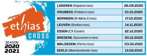 Kalender Ethias Cross 2020 2021